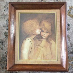 """A Little Kiss"" Vintage by Margaret Kane"